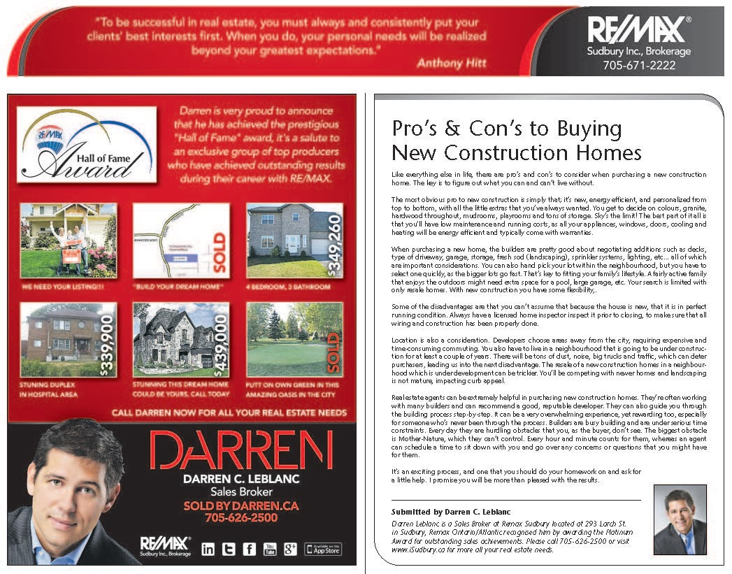 Pro's & Con's to Buying New Construction Homes